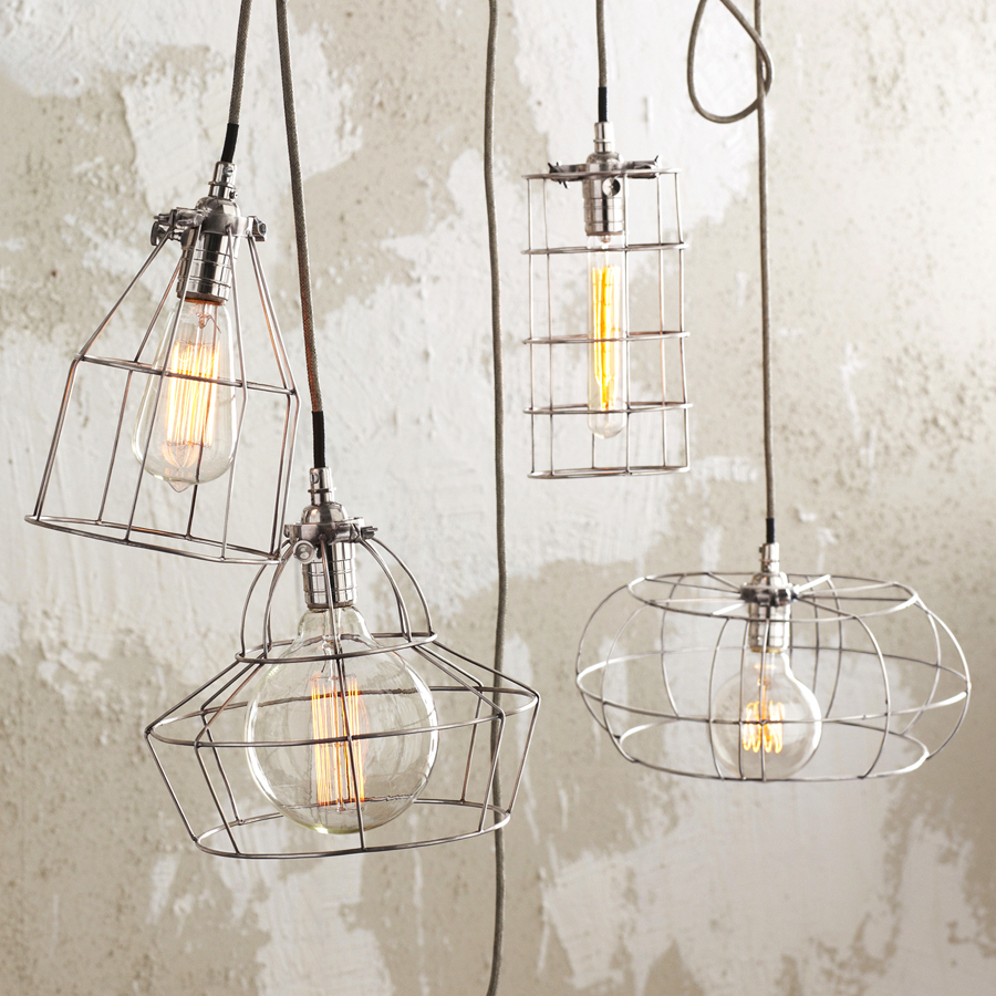 Factory Cage Lamps By Roost Design Menagerie
