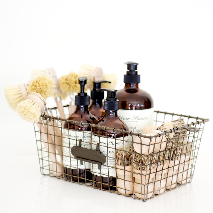 Three Wire Storage Baskets With Tags
